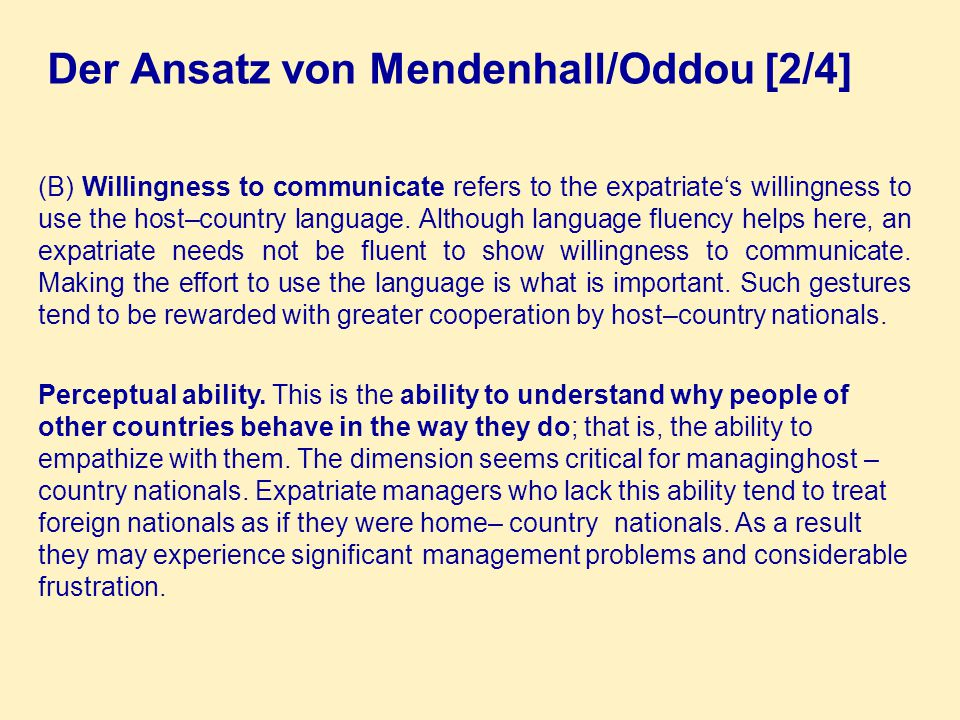 Der Ansatz von Mendenhall/Oddou [2/4]